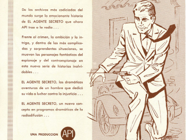 Image of a radio soap opera advertisement from the Louis J. Boeri and Minín Bujones Boeri Collection of Cuban-American Radionovelas, 1963-1970