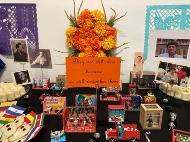 Image of the Latin American Library's Day of the Dead offering in 2020