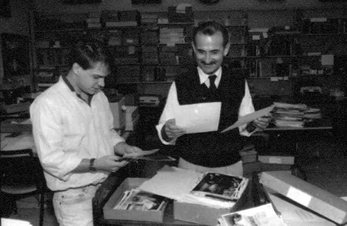 LAL Director Guillermo Náñez Falcón and student (1980s)