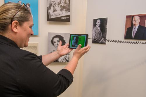 Augmented reality app in Pan-American Life in New Orleans Exhibit