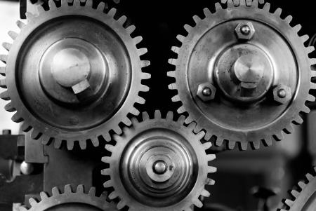 """A grayscale image of cogs and gears."""